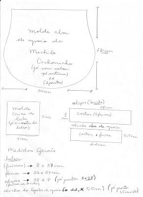 Molde Mochila Infantil Cachorrinho1