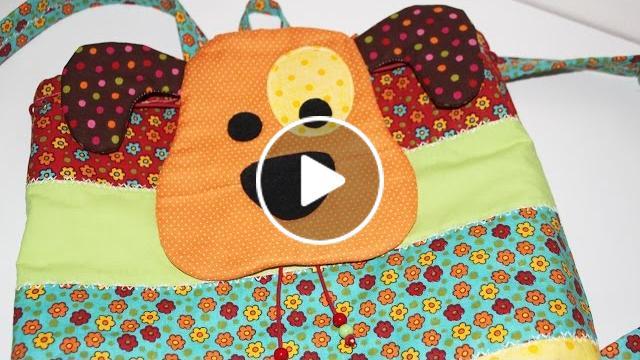 Bolsa Em Tecido Patchwork Passo A Passo : Mochila infantil patchwork como fazer bolsa tecido