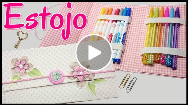Artesanato Viviane Magalhães Estojo ~ Estojo com Caixa de Leite u2013 Back to School por Artesanato Viviane Magalh u00e3es Cantinho do Video