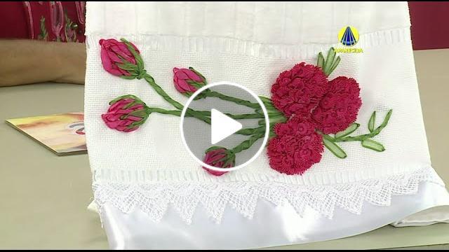 Artesanato Origami Passo A Passo ~ Toalha de rosto flor anemona por Zilda Mateus Cantinho do Video