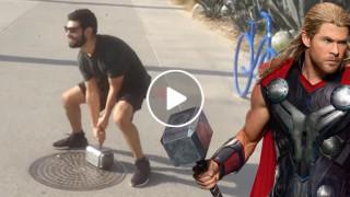 O incrível martelo de Thor que só pode ser levantado pelo seu criador